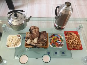 歓迎の食事